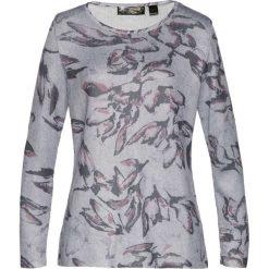 Sweter bonprix kolor bzu - szary z nadrukiem. Fioletowe swetry klasyczne damskie marki DOMYOS, l, z bawełny. Za 69,99 zł.