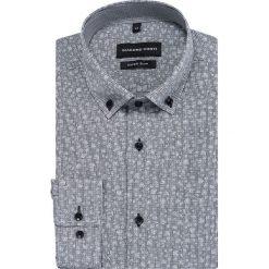 Koszula MICHELE KDGE000445. Szare koszule męskie na spinki marki House, l, z bawełny. Za 169,00 zł.