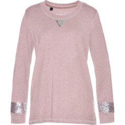Bluzy damskie: Bluza z cekinami bonprix matowy jasnoróżowy - srebrny