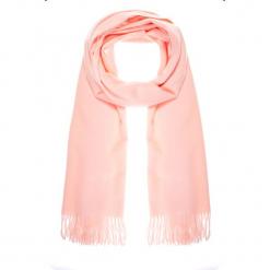 Różowy szal z frędzlami QUIOSQUE. Czerwone szaliki damskie QUIOSQUE, ze skóry. Za 79,99 zł.