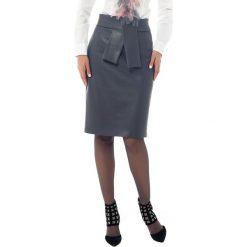 Spódniczki z wysokim stanem: Spódnica w kolorze szarym