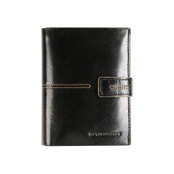 Portfele męskie: Skórzany portfel w kolorze czarnym – (S)10 x (W)13 cm