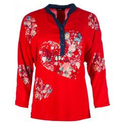 Desigual Bluzka Damska Temis, S, Czerwona. Szare bluzki z odkrytymi ramionami marki Desigual, l, z tkaniny, casualowe, z długim rękawem. Za 349,00 zł.