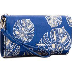 Duży Portfel Damski DESIGUAL - 18SAYP73 5000. Niebieskie portfele damskie Desigual, ze skóry ekologicznej. W wyprzedaży za 169,00 zł.