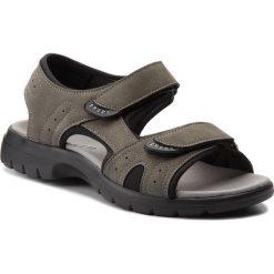 Sandały LANETTI - MS17005-1 Szary Ciemny. Szare sandały męskie skórzane Lanetti. W wyprzedaży za 59,99 zł.