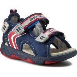 Sandały GEOX - B Sand. Multy B. A B620FA 01550 C0735  Morski/Czerwony. Niebieskie sandały męskie skórzane Geox. W wyprzedaży za 149,00 zł.
