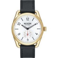 Zegarki damskie: Zegarek damski Gold Black White Nixon C39 Leather A4592226