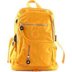 Plecaki damskie: Żółty plecak w sportowym stylu