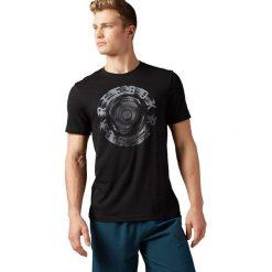Reebok Koszulka Spin Tee czarna r. XL (BK5224). Pomarańczowe t-shirty męskie marki Reebok, z dzianiny, sportowe. Za 79,90 zł.