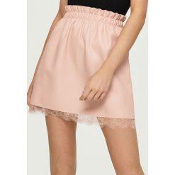 Spódniczki: Spódnica z koronką - Różowy