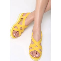 Sandały damskie: Żółte Sandały Pheasant
