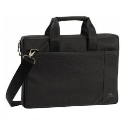 "Riva Case Central 13"" czarna. Czarne torby na laptopa marki RivaCase, w paski, z materiału. Za 119,00 zł."