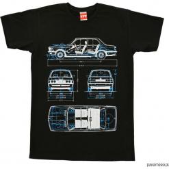 Koszulka BMW E21 BLACK tshirt. Czarne t-shirty męskie marki Pakamera, m, z kapturem. Za 77,00 zł.