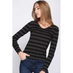Swetry damskie: Czarno-Zielony Sweter Crazy Stripes