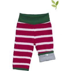 Spodnie niemowlęce: Dwustronne spodnie w kolorze jagodowo-szarym