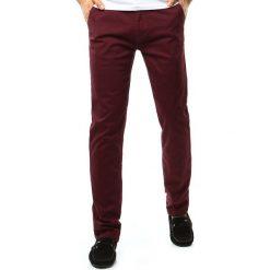 Chinosy męskie: Spodnie męskie chinos bordowe (ux1091)