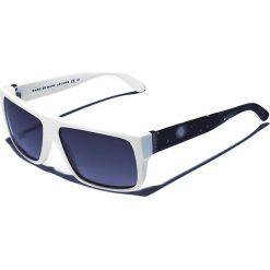 Okulary przeciwsłoneczne męskie aviatory: Okulary męskie w kolorze biało-szarym