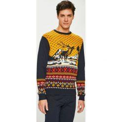 Medicine - Sweter XMASS. Brązowe swetry klasyczne męskie MEDICINE, l, z bawełny, z okrągłym kołnierzem. Za 129,90 zł.