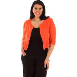 Kardigany damskie: Lniany kardigan w kolorze pomarańczowym