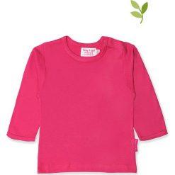 Koszulka w kolorze różowym. Czerwone bluzki dziewczęce bawełniane Toby Tiger, z okrągłym kołnierzem, z długim rękawem. W wyprzedaży za 42,95 zł.