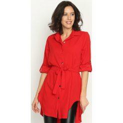 Czerwona Koszula Affinity. Czerwone koszule damskie marki Born2be, m, koszulowe. Za 59,99 zł.