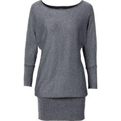 Sweter z lureksową nitką bonprix srebrny. Szare swetry klasyczne damskie bonprix. Za 99,99 zł.