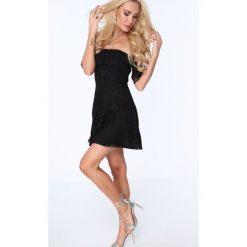 Sukienka koronkowa rozkloszowana czarna ZZ249. Czarne sukienki Fasardi, l, z koronki, rozkloszowane. Za 89,00 zł.