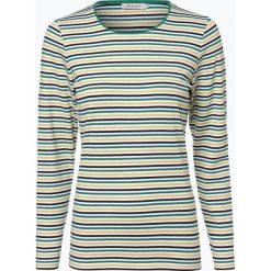 März - Damska koszulka z długim rękawem, niebieski. Brązowe t-shirty damskie marki Alma en Pena, z materiału, na obcasie. Za 199,95 zł.