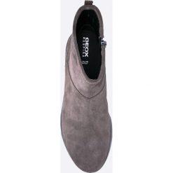 Geox - Botki. Szare buty zimowe damskie marki Geox, z gumy. W wyprzedaży za 329,90 zł.