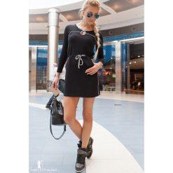 Sukienka czarna. Białe sukienki marki Fasardi, l. Za 49,00 zł.