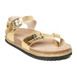 Sandały damskie: Sandały w kolorze złotym