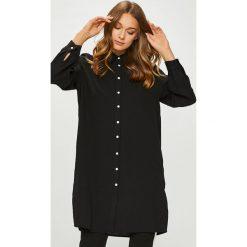 Answear - Koszula. Brązowe koszule damskie marki ANSWEAR, l, z materiału, klasyczne, z klasycznym kołnierzykiem, z długim rękawem. W wyprzedaży za 99,90 zł.