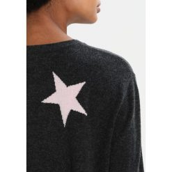Swetry klasyczne damskie: Juvia STAR Sweter anthracite melange