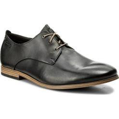 Derby męskie: Półbuty CLARKS - Chinley Walk 261153717 Black Leather