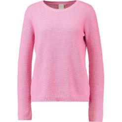 Swetry klasyczne damskie: ICHI MARNA Sweter aurora pink