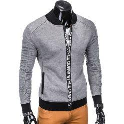 BLUZA MĘSKA ROZPINANA BEZ KAPTURA B739 - SZARA. Szare bluzy męskie rozpinane marki Ombre Clothing, m, z bawełny, bez kaptura. Za 69,00 zł.