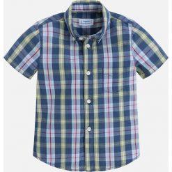 Mayoral - Koszula dziecięca 92-134 cm. Szare koszule chłopięce z krótkim rękawem marki Mayoral, z bawełny, z włoskim kołnierzykiem. Za 84,90 zł.