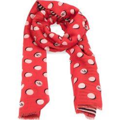 Szaliki damskie: Szal LIU JO – Sciarpa Pois Logo 90 A18239 T0300 Cherry Red 81761