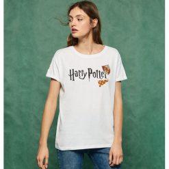 T-shirt Harry Potter - Biały. Białe t-shirty damskie marki Sinsay, l. Za 39,99 zł.