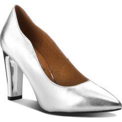 Półbuty CAPRICE - 9-22411-21 Silver Metal 920. Szare półbuty damskie skórzane marki Caprice, na obcasie. W wyprzedaży za 199,00 zł.