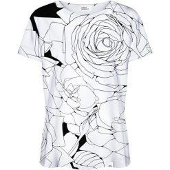 Colour Pleasure Koszulka damska CP-030 1 biało-czarna r. XL/XXL. Białe bluzki damskie marki Colour pleasure, xl. Za 70,35 zł.