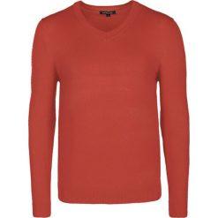 Swetry klasyczne męskie: Sweter w kolorze pomarańczowym