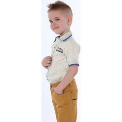 Koszula chłopięca we wzory jasnożółta NDZ6607. Żółte koszule chłopięce Fasardi. Za 49,00 zł.