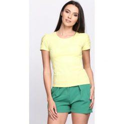 Bluzki, topy, tuniki: Żółty T-shirt Kohlrabi