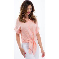 Jasnoróżowa koszula wiązana 21393. Szare koszule wiązane damskie Fasardi, l. Za 59,00 zł.