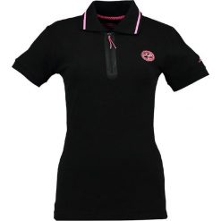 """Bluzki damskie: Koszulka polo """"Kwartz"""" w kolorze czarnym"""