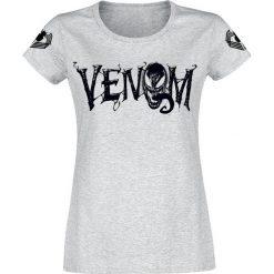 Venom (Marvel) Logo Koszulka damska odcienie szarego. Szare bluzki z odkrytymi ramionami Venom (Marvel), xxl, z motywem z bajki. Za 79,90 zł.
