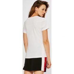 Calvin Klein Jeans - Top. Szare topy damskie marki Calvin Klein Jeans, l, z bawełny, z okrągłym kołnierzem. Za 119,90 zł.