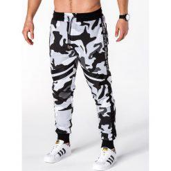 SPODNIE MĘSKIE DRESOWE P665 - CZARNE. Czarne spodnie dresowe męskie Ombre Clothing, z bawełny. Za 65,00 zł.