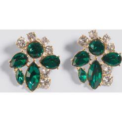 Kolczyki damskie: NA-KD Accessories Kolczyki na sztyfcie – Green,Silver